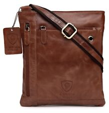 d3a984b2e5d1 Mens Leather Shoulder Bag Designer Ladies Cross body Work Messenger College  Case
