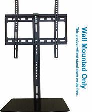 "TV Wall Mounted Bracket 20"" - 52"" with Glass Floating shelf Curved LED LCD 4K TV"