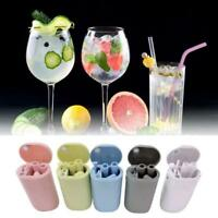 Portable Foldable Silicone Reusable Drinking Straw with Cleaning Brush best gift