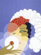 Makeup 22x30 Art Deco Print by Erte
