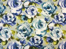 VOYAGE Martha BLUEBELL Duck Egg diffusione in tessuto per tende floreale fiori blu