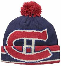 NHL Montreal Canadians Adult CCM Cuffed Pom Knit Beanie