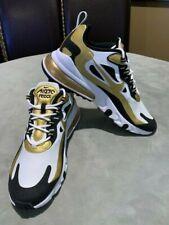 Genuine Nike Air Max 270 React White/Metallic Gold/Black Men's Shoes Impressive