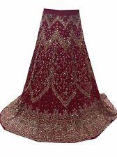 Om Vintage Indian Wedding Georgette Hand Beaded Maroon Lehenga LP13