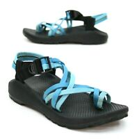 Chaco Ladies 7 ZX2 Classic Toe Loop Strappy Blue Multi-Strapped Athletic Sport