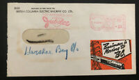 1946 Vancouver Canada Meter Cancel Commercial cover Electric Railway
