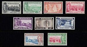 MONTSERRAT 1951 PART SET TO 24c MOUNTED MINT SG123 - 131