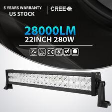 """22""""INCH 280W CREE LED LIGHT BAR SPOT FLOOD OFFROAD LAMP 4X4WD CAR TRUCK VAN 24"""""""