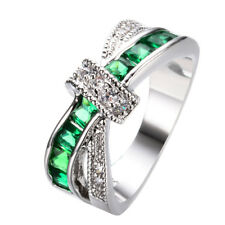 6 colors white gold Filled wedding Ring jewelry women fashion cute size6-10 HOT