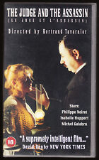 THE JUDGE AND THE ASSASSIN (FRENCH) - NOIRET, HUPPERT - VHS PAL (UK) VIDEO -RARE