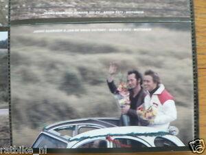 S0127-PHOTO- JARNO SAARINEN & JAN DE VRIES RAALTE 1972 VICTORY CITROEN 2CV MOTO