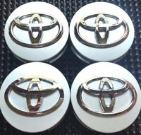 REPLACEMENT SET OF 4 SILVER WHEEL HUB CAPS 62MM CENTER WHEELS EMBLEM LOGO 4PC