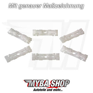 10x Roof Trim Fasteners Clips For VW And Skoda Felicia Pickup 191853733A
