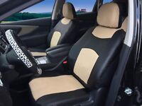 2 Tone Tan Cloth Fabric Two Front Car Seat Covers for Lexus #16003