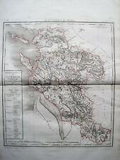 RIESIGE LANDKARTE FRANKREICH DEP. DE LA CHARENTE 1790 KUPFERSTICH D'HOUDAN