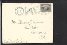 297 PAN-AMERICAN on MI to HONDURAS 1901 Cover via NEW ORLEANS - A GEM w MARKINGS