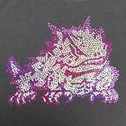 Women's TCU Horned frogs spangle Rhinestone Football V-neck T Shirt Tee Lady