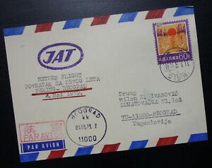 Yugoslavia 1979 China JAT Return Flight Card-Airmail-Peking Beograd Serbia R! A1