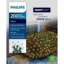Philips Heavy Duty 4'x8' 200 Net Lights Clear~Indoor/Outdoor~32 Sq Ft