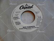 BERT ROBINSON~NEVER GONNA GIVE YOU UP~NEAR MINT~RARE PROMO~~MODERN~ SOUL 45