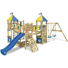 WICKEY Smart Queen Parco giochi Fortezza in legno bambini Altalena e Scivolo