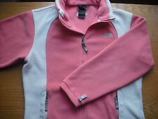 Girls/Teens NORTH FACE Full-Zip Fleece Coral-Pink Cream Sz:YLG/Women XS CLEAN