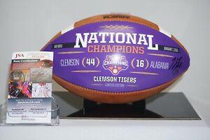 Hunter Renfrow Signed Clemson Tigers 2019 Natl Champs CFP Game Ball JSA EE24268