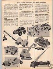 1969 PAPER AD Nylint Toy Truck Back Hoe Elevating Scraper Dump Twister Buggy