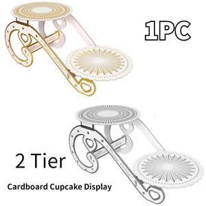 2 Tier European Cake Stand Dessert Tower Birthday Cardboard Cupcake Display