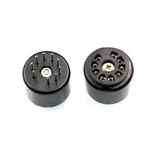 9pin bakelite tube socket testing saver for 12Ax7 Ecc83 5670 El84 6922 6Dj8 *2