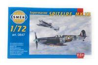 SMER Plastic Model Kit 1/72 Military Airplane Supermarine Spitfire MK VB 0847