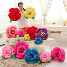 3D Rose Flower Valentine's Pillow Plush Car Cushion Wedding Decor Xmas Gifts F
