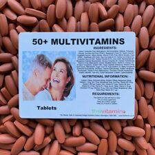 50+ MULTIVITAMIN PLUS (365 tablets)   One per day FREEPOSTAGE