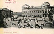 Germany AK Darmstadt - Marktplatz mit Schloss old postcard
