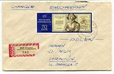 1973 Einschreiben Polen Krakow Jaracza Charger Dresden DDR SPACE NASA Registered