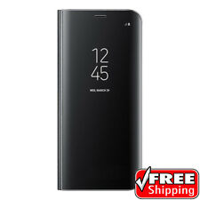 NEW ORIGINAL SAMSUNG Galaxy S8 S-View Flip Cover Case Clear Standing Black