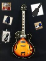 "Haze 278VS Hollow-body w/""F"" holes Electric Guitar,Sunburst +Free Soft Bag,Strap"