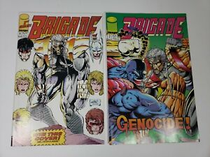 Brigade (1st Series) 1A 1992 Liefeld Variant - Loose Comics - Issues 1 and 2