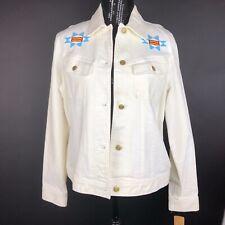 Ralph Lauren Jeans White Jacket Size XL Southwest Aztec Beaded NWT RARE