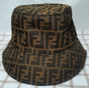Fendi Bucket Hat Packable Cap Brown