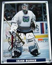 Hartford Whalers Hockey Team Photo  Sean Burke Autographed to Lillian 11/16/95