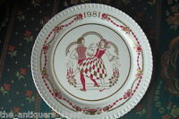 "1981 Christmas Plate Spode made in England  NIB, 12th issue, with certs, 8"" diam"