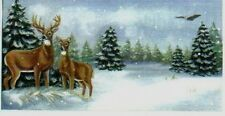 "DEER Buck Doe EAGLE Country Primitive Lodge Cabin Lake 4.5x10"" Wood Sign"