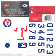 TEXAS RANGERS MLB Batting Helmet Rawlings DECAL KIT