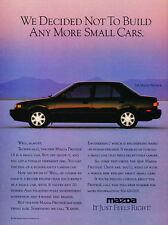 1990 Mazda Protege Sedan -  Classic Vintage Advertisement Car Ad J13