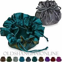 Jewelry Organizer Large 9 Pockets Travel Case Drawstring Bag Pouch (ACS144-SJ)