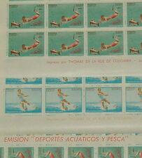 Panamá 1964 Deportes Acuáticos menta completo Hojas 100 Sellos sg875 + 876