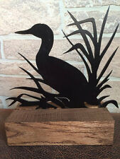 Metal Duck in the weeds indoor outdoor Home Decor - Table Decoration