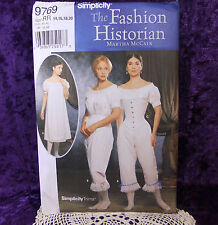 Simplicity 9769 Civil War Corset Chemise SEWING Pattern 14-20 Steampunk new