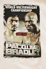 MANNY PACQUIAO/BRADLEY Welterweight Championship T-Shirt. Cotton. XXL. Pre-Owned